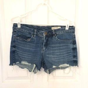 BlankNYC rollover denim cutoff shorts